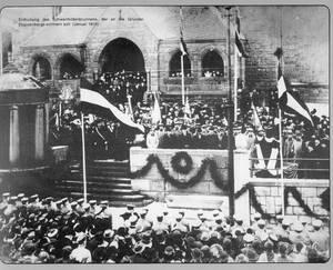Feierliche Enthüllung des Schwanhildenbrunnens 1915